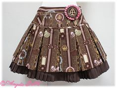 { Angelic Pretty } 2012 Chocolate Rosette skirt in brown