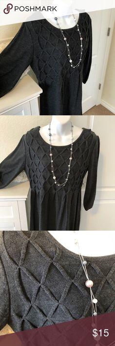 Grey sweater dress Grey knit sweater dress. Dress Barn Dresses Long Sleeve