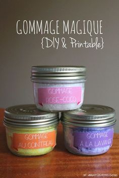 Anna et les Petites Choses …: Gommage magique au sucre et huile de coco {DIY &… Anna and the Little Things …: Magic scrub with sugar and coconut oil {DIY & printable inside} Homemade Beauty, Homemade Gifts, Diy Gifts, Homemade Candles, Beauty Care, Diy Beauty, Diy Cadeau, Little Presents, Homemade Cosmetics