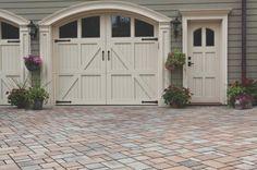 Permeable Concrete & Brick Pavers: Driveway Pavers & Pavestones from Belgard Driveway Design, Driveway Landscaping, Patio Design, Concrete Bricks, Brick Pavers, Paver Walkway, Driveway Pavers, Unilock Pavers, Outdoor Paving
