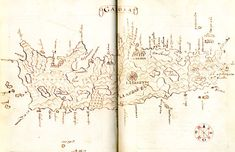 Map of Crete by Antonio Millo, 1591