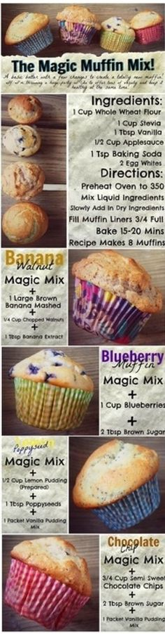 The Magic Muffin Mix - not bad but I don't like stevia, maybe I'll stick with real sugar