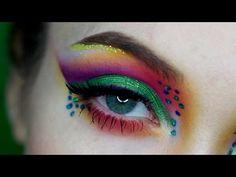 Rainbow Cut Crease Makeup - YouTube