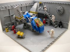 LEGO MOC   Space Hangar #classic #space
