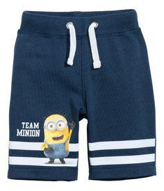 Pantalón corto en sudadera   Azul oscuro/Minions   Kids   H&M MX