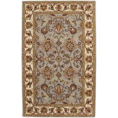 Gilded Hand-Tufted Area Rug, Gray