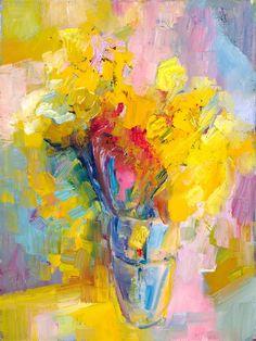 Daffodils (Nothingness) original fine art by Lena Levin
