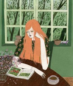 """The Reader"" print by Yelena Bryksenkova"