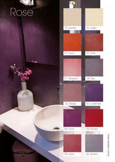 Via eStudio Amsterdam   Stuc producten Bathroom Medicine Cabinet, Shelving, Amsterdam, Toilet, Sink, Bathtub, Inspiration, Home Decor, Concrete Bathroom