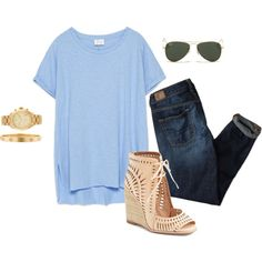 White jeans would look cuter.. by mollykate3 on Polyvore featuring мода, Zara, American Eagle Outfitters, Jeffrey Campbell, Michael Kors, Cartier and Ray-Ban