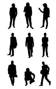 silhouette people - Google Search