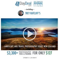 This is it! Time for the annual 5-day-deal at http://www.stuckincustoms.com/links/5DayDeal2015 ! You get $3,300 worth of photography and training products for just $127, but it is a super-short offer! There are products from some of the top photographers from around the world. As for me, I put in one of my favorite tutorials from New Zealand, all about Landscape Photography. My tutorial alone is over 4 hours of goodness. Enjoy!