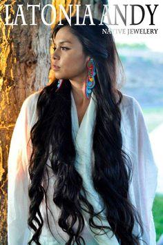 "urbannativegirl: ""  Ka'yx Wawkikuk modeling Latonia Andy Native Jewelry. """