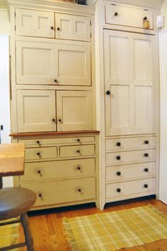 The Workshops of David T. Smith: 1860s Cottage Kitchen - integrated refrigerator cupboard