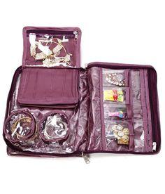 ADDYZ Jewellery & Makeup Satin Box Travel Case Bangles Necklace Rings Chain Bindi Gift