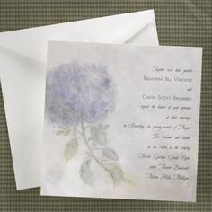 Hydrangea Water Color - Invitation | Quaint Wedding Stationery & Accessories