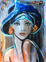 """Résultat de recherche d'images pour """"portrait a peindre acrylique"""""""