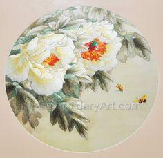 Hand Stitching, Peonies, Embroidery, Silk, Artwork, Flowers, Needlepoint, Work Of Art, Auguste Rodin Artwork