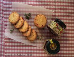 Cookies with pepperoni mustard. The taste of italian food.