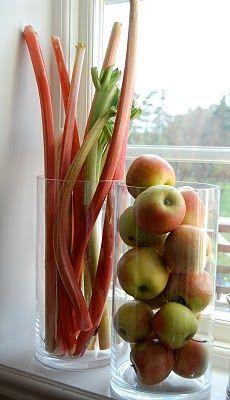 Decorar la cocina con frutas