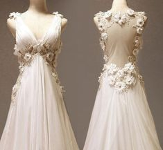 Custom make Vintage Wedding Dress A LINE Bridal Gown by wonderxue (wedding,dress,flowers,beautiful,etsy)