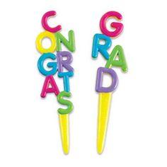 Congrats Grad Graduation Party Cupcake Picks  24 pc *** Click image for more details.