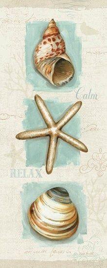 Coastal Jewels Panel I Framed Art Print by Lisa Audit Starfish Drawing, Seashell Painting, Seashell Art, Framed Art Prints, Fine Art Prints, Coastal Pictures, Deco Podge, Coastal Wall Art, Coastal Living