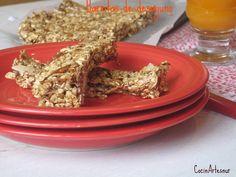 Barritas de desayuno  con sirope de agave o concentrado de manzana, sanas y faciles de hacer