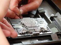 Thistle letterpress / setting type