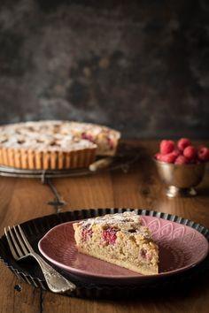 Mandel-Himbeer-Tarte mit Frangipane-Füllung - Kleines Kulinarium