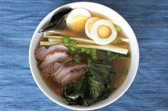 Ramen is Japanese soup made from pork broth, roasted pork, boiled noodles, and… Primal Recipes, Whole Food Recipes, Healthy Recipes, Paleo Meals, Paleo Food, Veggie Food, Ramen Recipes, Cooking Recipes, Pork Broth
