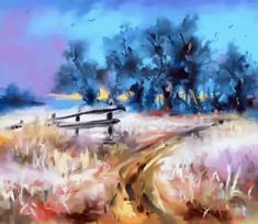 First frost digital oil painting Painting Videos, Artist Names, Pictures To Draw, New Artists, Photo Manipulation, All Art, Fireworks, Creative Art, Landscape Paintings