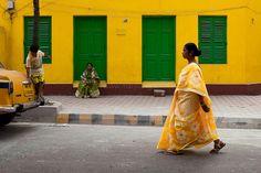 Yellow, Kolkata by Marji Lang, via Flickr