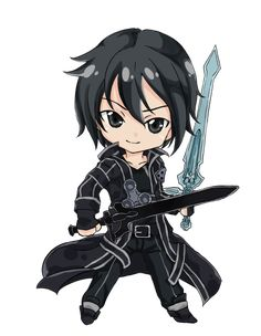 Sword Art Online, Kirito (chibi), by d-tomoyo