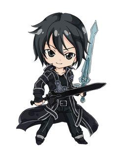 Sword Art Online, Kirito (chibi), by d-tomoyo