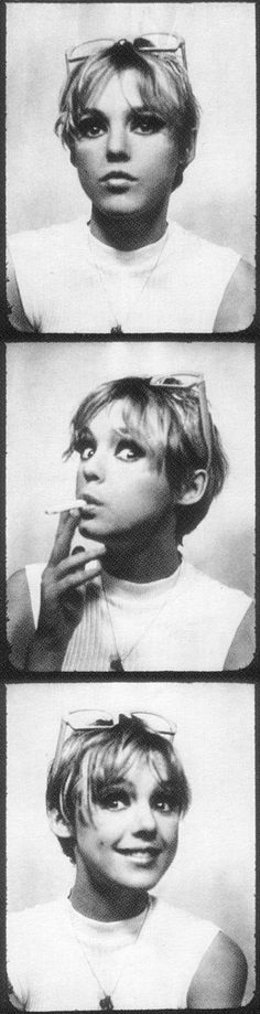 Andy Warhol Pop Art Underground Film Superstar Edie Sedgwick Photobooth Photomaton Photo Photos, ca. 1966 || EDIE STYLE on FB: https://www.facebook.com/EDIE-STYLE-1669652626620382/