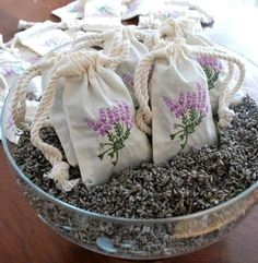 sachets of lavender - use the surplus cord from the factory?