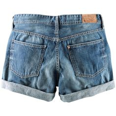 H  Denim Shorts ($9.17) ❤ liked on Polyvore
