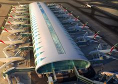 Emirates' new A380 hub, Concourse A, has 20 gates specially designed for the A380