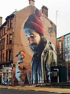 The Smug-drawn mural in Glasgow city centre. Picture: Corrie Martin .I looove glasgow