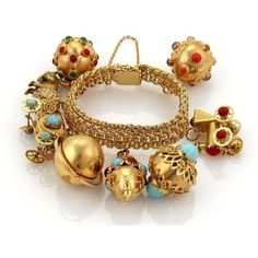 Retro Fine Bracelets for sale Gold Rings Jewelry, Gold Bangles, Charm Jewelry, Antique Jewelry, Vintage Jewelry, Fine Jewelry, Jewellery, Vintage Charm Bracelet, Charm Bracelets