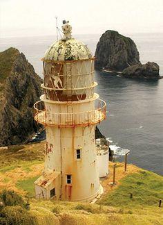 Faro de Cabo Brett Northland Isla Norte de Nueva Zelanda