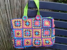 Made by me, granny square bag