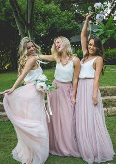 Two Piece Pink Long Maxi Dress with White Straps Top - Thumbnail 1