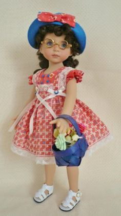 Teacups-Teapots-Outfit-for-13-Little-Darling-Effner-Doll-by-Apple.Sold BIN on 5/14/14 for $45.95.
