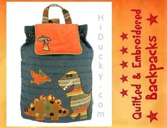 PeRSONALIZED STePHEN JoSEPH GiFTS BaCKPACK DINOSaURS by HiDucky, $29.95