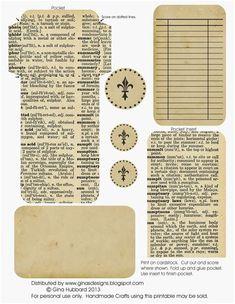 free junk journal vintage printables