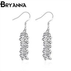 Bryanna New Trendy Silver Plated Drop Earrings for women earings fashion jewelry vintage tassel Ball cute Dangle Earrings E308