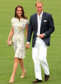 kate middleton - gray hand-painted chinoiserie silk dress by jenny packham.
