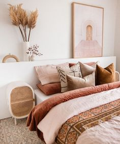 Gorgeous Bedrooms, Chic Bedroom, Kids Bedroom Decor, Beautiful Bedrooms, Bedroom Images, Home, Rattan Bedroom, Bedroom Inspirations, Aesthetic Bedroom